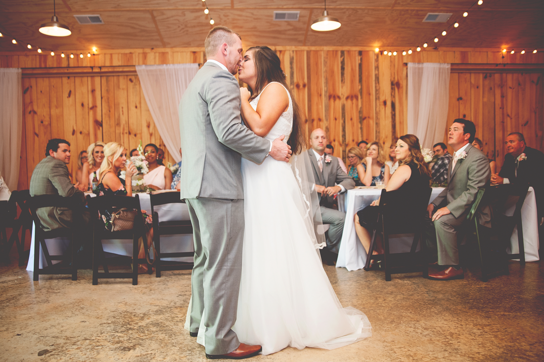 First dance at barn wedding venue in Canton, Ga