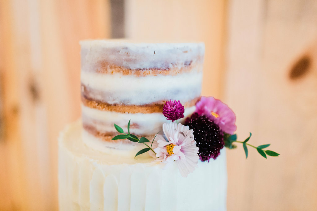 Simple wedding cake near Johns Creek, GA