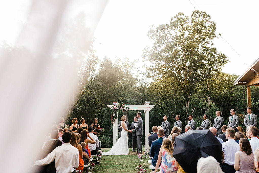 Romantic outdoor wedding venue near Atlanta