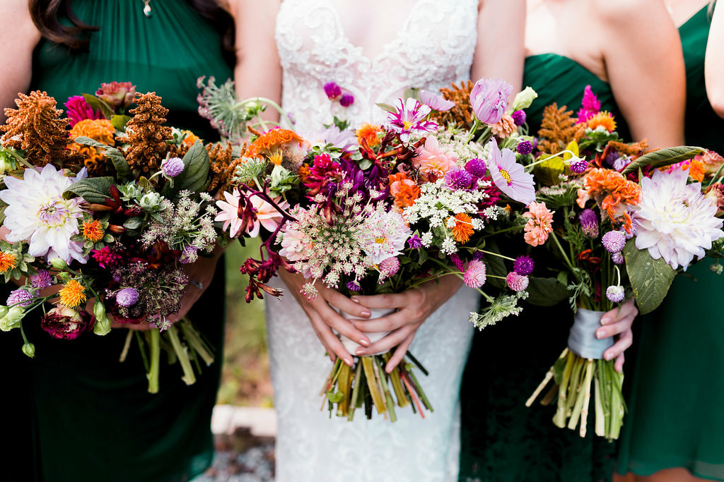 Garden style wedding bouquets by Stems Atlanta