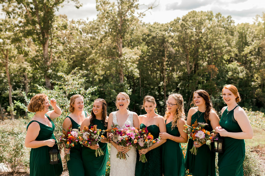 Bridal party style near Kennesaw, GA